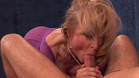 BrokenMILF - Mature Masseuse Nina Hartley Can't Resist A Cock